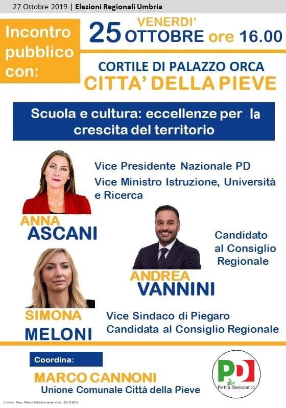 Anna Ascani per Bianconi Presidente: parliamo di scuola e cultura