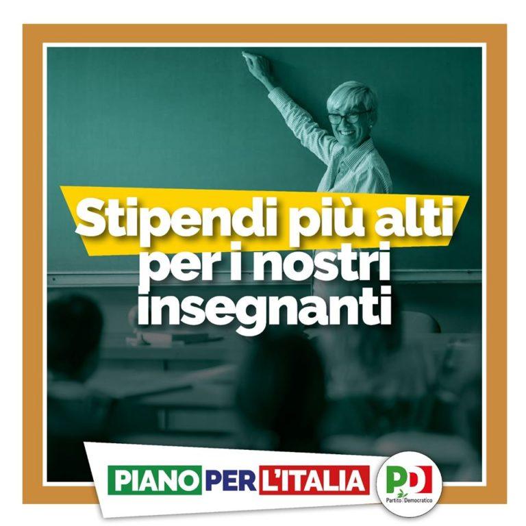 Stipendi più alti per gli insegnanti. Il nostro Piano per l'Italia. Dalla parte delle persone
