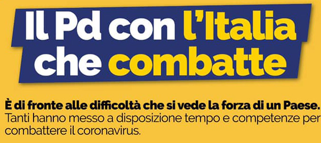 Il Pd con l'Italia che comabatte