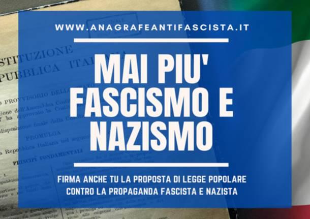 Raccolta firme per una legge anti propaganda fascista